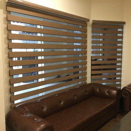 zebra blinds in office
